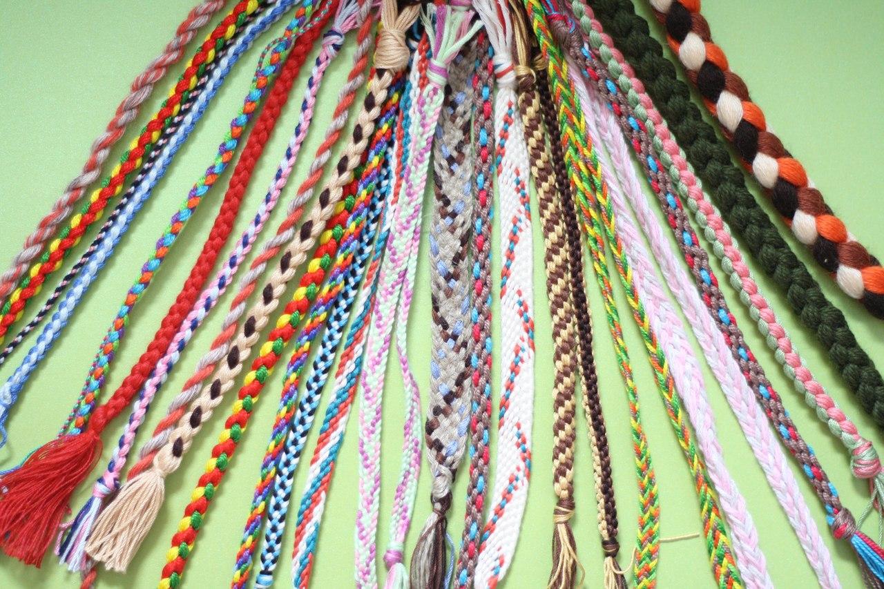 Плетеный ремень из шнура своими